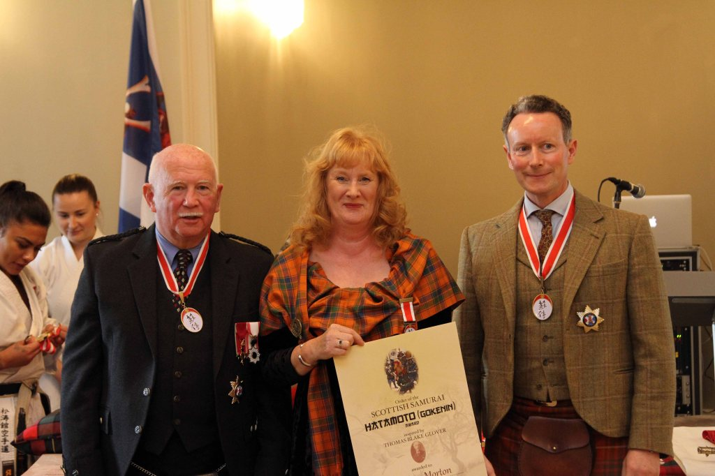 Yvonne Morton with Ronnie Watt and Charles Bruce